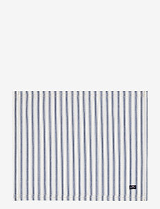 Icons Cotton Herringbone Striped Placemat - pöytätabletit & lasinaluset - blue/white