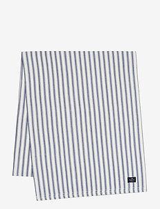 Icons Cotton Herringbone Striped Runner - nappes et chemins de table - blue/white