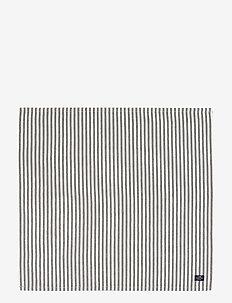 Icons Cotton Herringbone Striped Napkin - accessoires de table - black/white