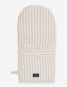 Icons Cotton Herringbone Striped Mitten - pannulaput ja patakintaat - beige/white