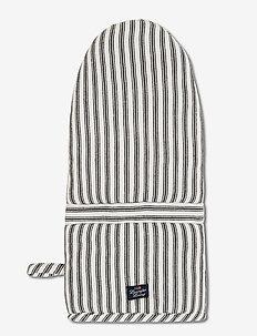Icons Cotton Herringbone Striped Mitten - pannulaput ja patakintaat - black/white