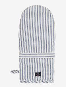 Icons Cotton Herringbone Striped Mitten - rękawiczki kuchenne, rękawiczki i uchwyty na garnki - blue/white