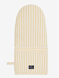 Icons Cotton Herringbone Striped Mitten - pannulaput ja patakintaat - yellow/white