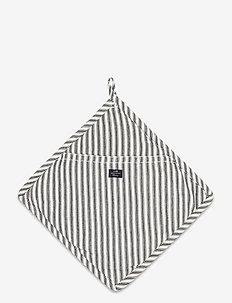 Icons Cotton Herringbone Striped Potholder - pannulaput ja patakintaat - black/white