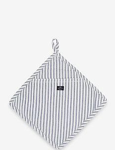 Icons Cotton Herringbone Striped Potholder - mitaines de four, gants et maniques - blue/white