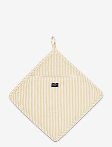Icons Cotton Herringbone Striped Potholder - pannulaput ja patakintaat - yellow/white
