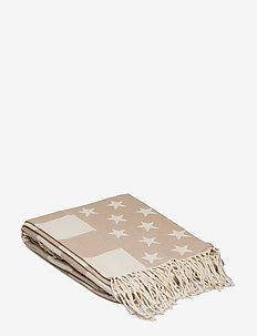 Flag Throw - bedspread - white/beige