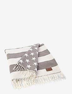 Flag Throw - päiväpeitto - white/gray