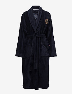 Lexington Velour Robe - yö- & oloasut - blue