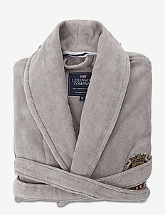 Lexington Velour Robe - yö- & oloasut - gray