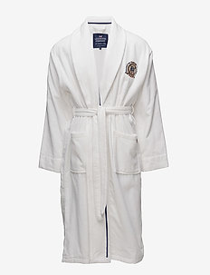Lexington Velour Robe - bathrobes - white