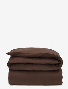 Hotel Sateen Jacquard Chestnut Duvet - bedding sets - chestnut