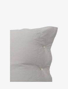Hotel Tencel Stripe Lt Beige/White Pillowcase - taie d'oreiller - lt beige/white