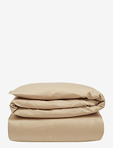 Hotel Cotton Sateen Lt Beige Duvet Cover - housses de couette - lt beige