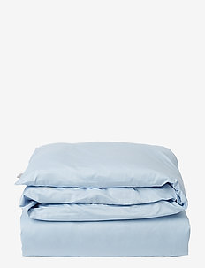 Hotel Cotton Sateen Sky Blue Duvet Cover - housses de couette - sky blue