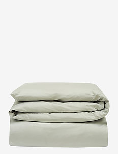 Hotel Cotton Sateen Sage Green Duvet Cover - housses de couette - sage green