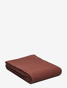 Hotel Herringbone Bedspread - couvre-lits - chestnut