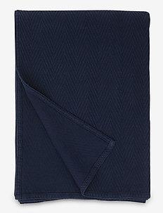 Hotel Herringbone Bedspread - sengetepper - dk. blue