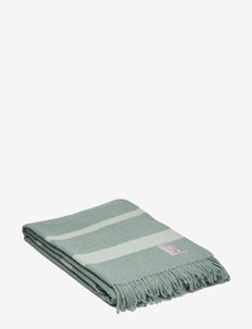 Hotel Wool Throw - blankets - green/white