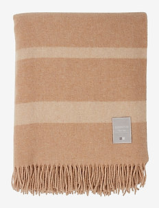 Hotel Wool Throw - viltit - lt beige/white