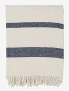 Hotel Wool Throw - WHITE/BLUE