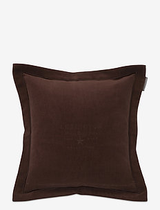 Hotel Velvet Sham with Embroidery - tyynyliinat - chestnut