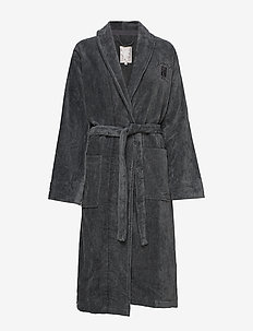 Hotel Velour Robe - kylpytakit - gray