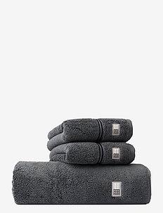 Lexington Hotel Towel Gray/Dk Gray - hand towels & bath towels - gray/dk gray