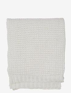 Knitted Cotton Throw - blankets - beige