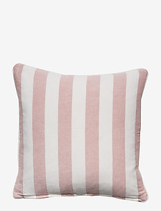 Viscose/Linen Striped Sham - PINK/WHITE