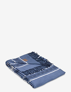 Multi Striped Cotton Throw - viltit - blue multi