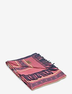 Multi Striped Cotton Throw - blankets - red multi