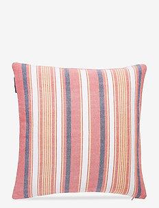Multi Stripe Sham - putetrekk - red/white
