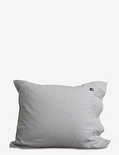 Striped Flannel Pillowcase - LT GRAY/WHITE STRIPE
