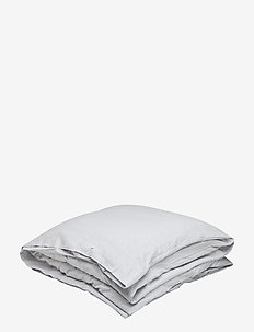 Striped Flannel Duvet - LT GRAY/WHITE STRIPE