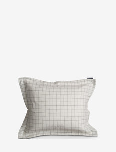 Cashmere Flannel Pillowcase - kissenbezüge - white/lt gray check