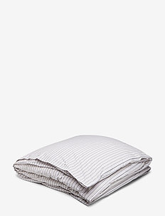 Multi Striped Poplin Duvet - GRAY/WHITE/RED MULTI STRIPES