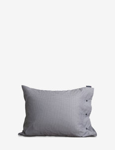 Tattersall Tencel Pillowcase - WHITE/BLUE CHECK
