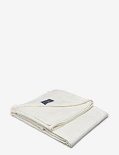 Jacquard Cotton Bedspread - bedspread - creme