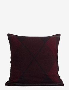 Argyle Wool Sham - kussenslopen - red