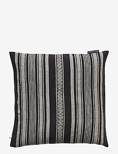 Striped Linen Cotton Sham - pillowcases - dk. gray