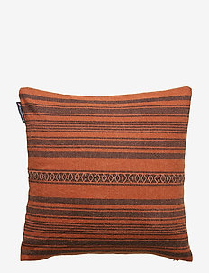 Striped Linen Cotton Sham - RUST