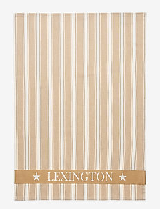 Lexington Striped Kitchen Towel - BEIGE