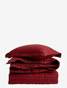 Checked Flannel Bedding Set - RED