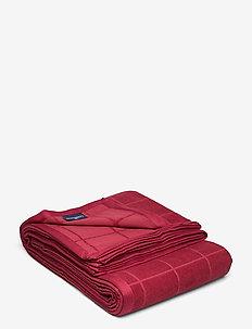 Velvet Bedspread - bedding - red