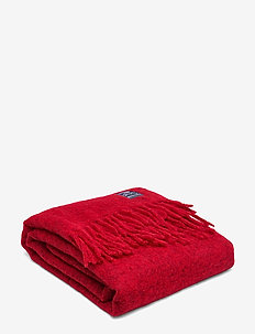 Holiday Mohair Throw - RED
