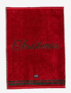 Merry Christmas Towel Set - towels - red/green