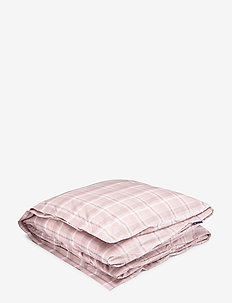 Pink Checked Madras Poplin Duvet - duvet covers - white/pink