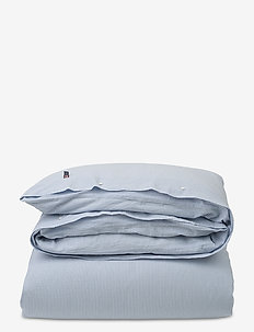 Blue Striped Seersucker Duvet - duvet covers - white/blue