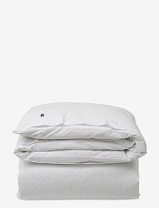 White Stripe Seersucker Duvet - dekbedovertrekken - white